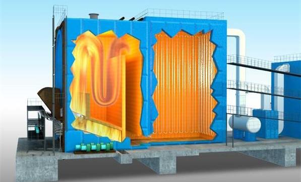 约翰节能生物质锅炉的独立气化燃烧