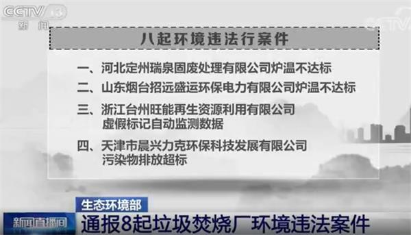 生态环境部公布:第一季度8起垃圾焚烧厂环境违法案件